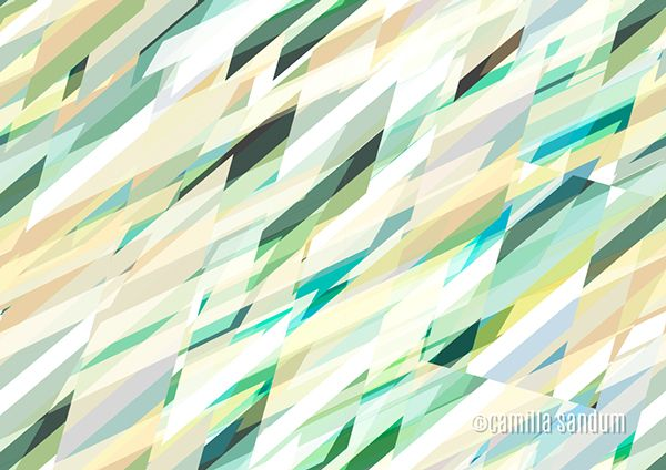 Ziggy - Geometric pattern by Camilla Sandum, via Behance (CC BY-NC-ND 4.0)