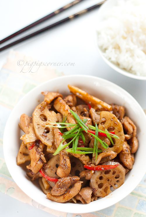 Lotus-Root and Chicken Stir Fry