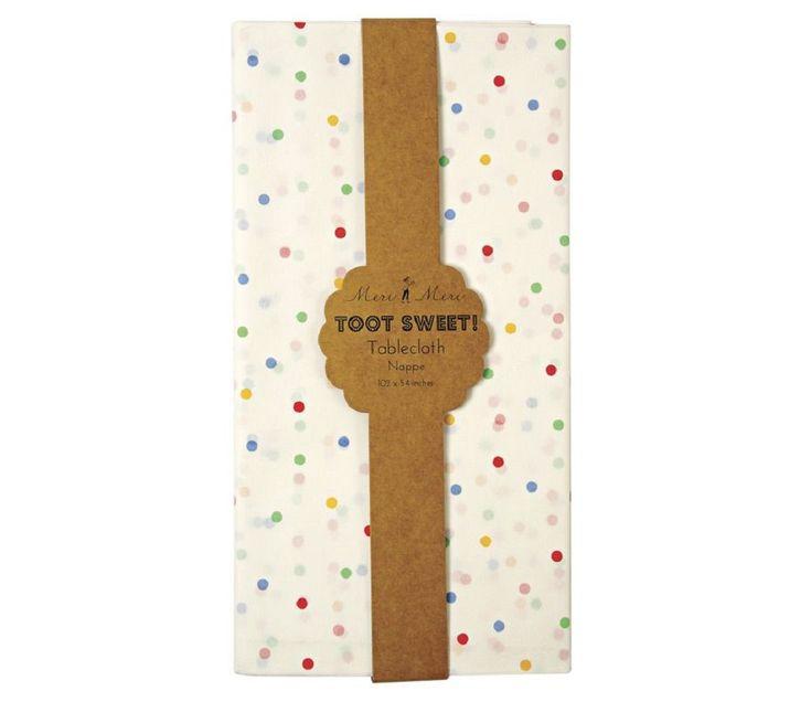 Papirduk til bursdag med fargerike prikker