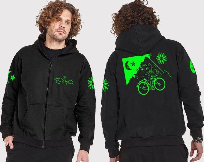 Mens Psy Trance Clothing,Bohemian Clothing Hoodie Jacket Printed Hoodie Burning