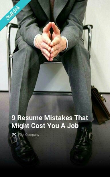 11 best Career Resources images on Pinterest Career, Carrera and - 9 resume mistakes to avoid
