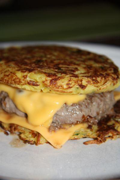 Simple, gourmand et original - Recette Plat : Hamburger aux pommes de terre par Coocooningcook