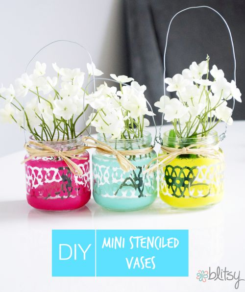 These perfect painted mini hanging lanterns or vases are the perfect way to send off summer! Check out all of the supplies to make these at home on sale now at blitsy.com!