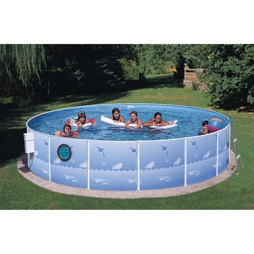 Outdoors Inflatable Swimming Pool Patio Family Garden Round Ground Ladder Kids #OutdoorsInflatableSwimmingPool