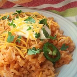Very easy to make! Bake the rice and put in some veggies. For the whole recipe, look at the website