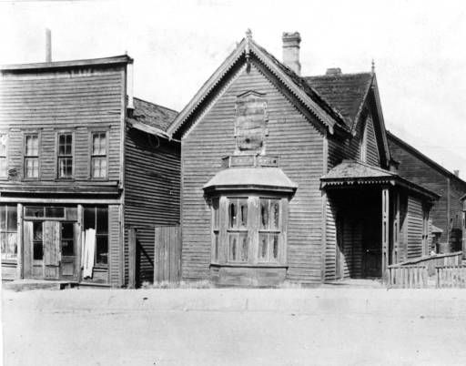 Augusta and Horace Tabor's house: View of the Horace and Augusta Tabor home, on East 5th (Fifth) Street, in Leadville, (Lake County), Colorado; 1931
