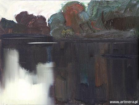 "Stanisław Baj  oil on canvas, ""On the Bug"" https://pl.wikipedia.org/wiki/Stanis%C5%82aw_Baj http://www.artmera.pl/galeria.php?aid=1"