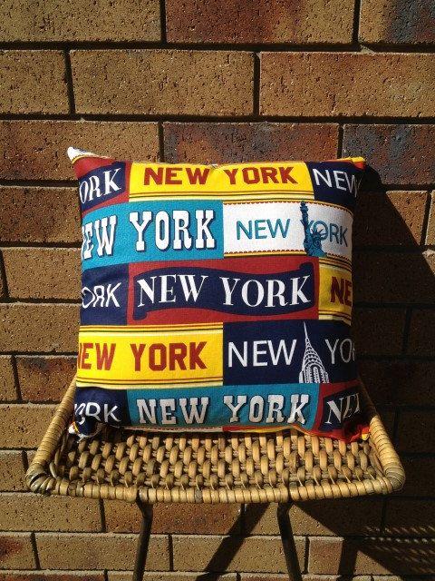 New York, New York. 40x40cm New York Typography Print Cushion $AUD20