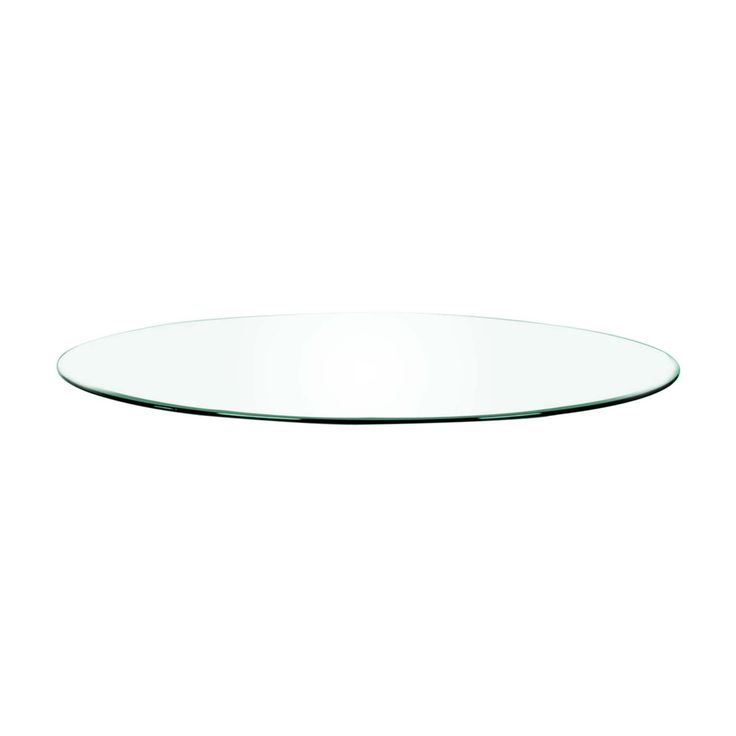 """Clear 60"""" Round Dining Table Top"""