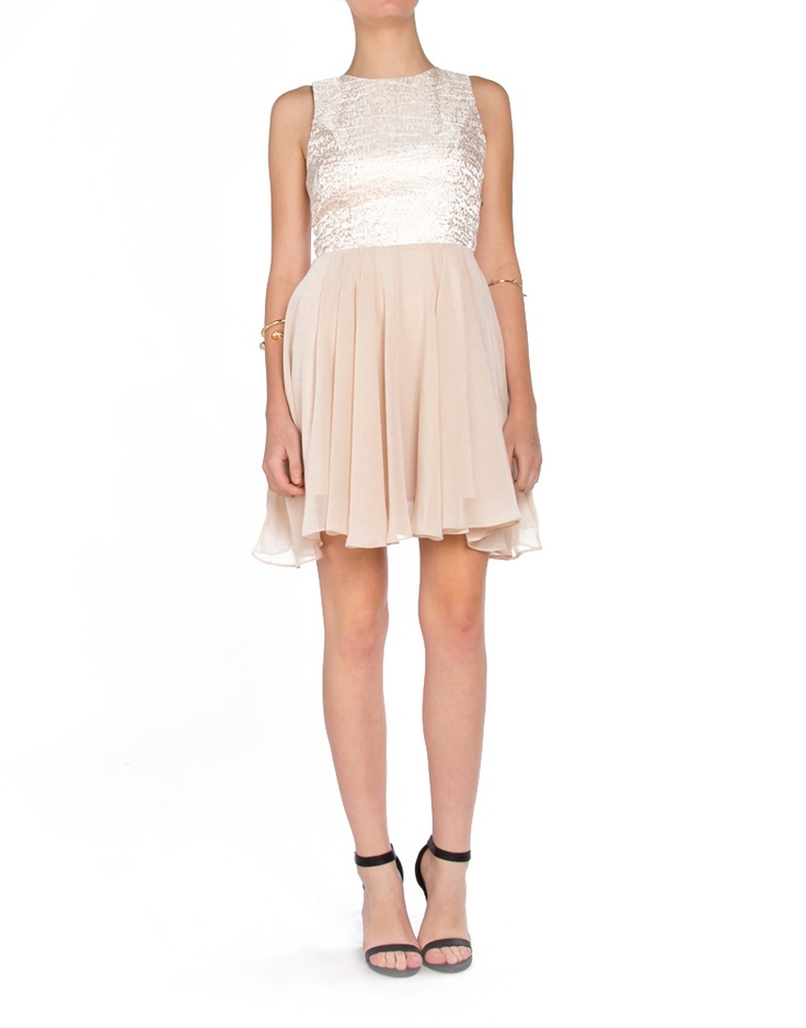 Gold Weave Racerback Contrast Dress - 2020AVE