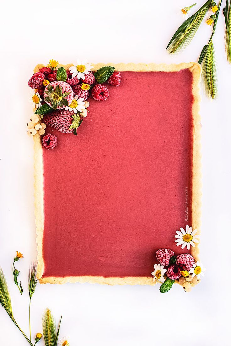 strawberry, peppermint and pink pepper tart.