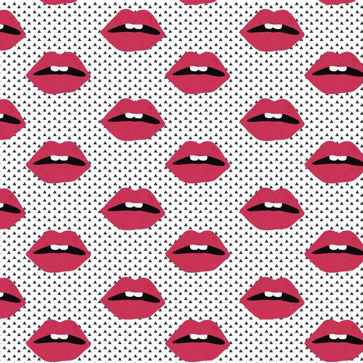 Zoe's Wodarz, illustrator & graphic designer. www.zoewodarz.com built using http://format.com #pattern#lips
