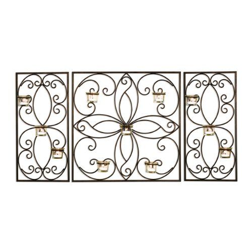 Elements Metal 3-Panel Tea Light Sconce, 20-Inch Elements ...
