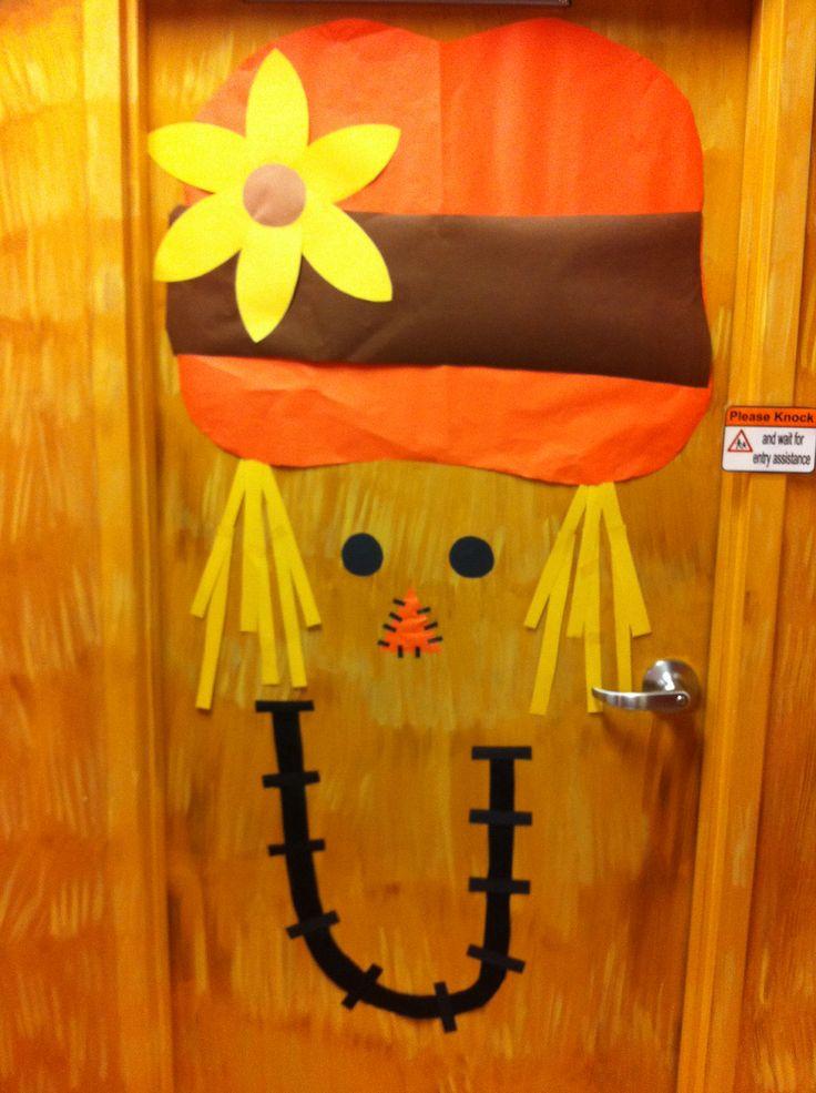 Classroom Decoration Autumn : Classroom door scarecrows and on pinterest