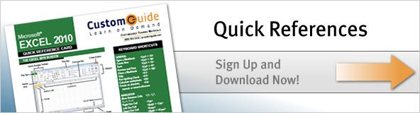 Get free Quick Reference Guides for MS Office