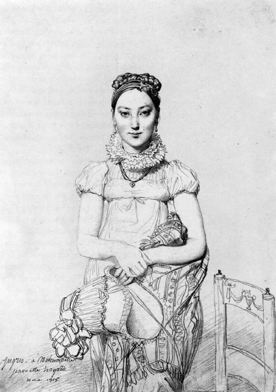 1815 Mlle. Jeanne Hayard by Jean Auguste Dominique Ingres (private collection)