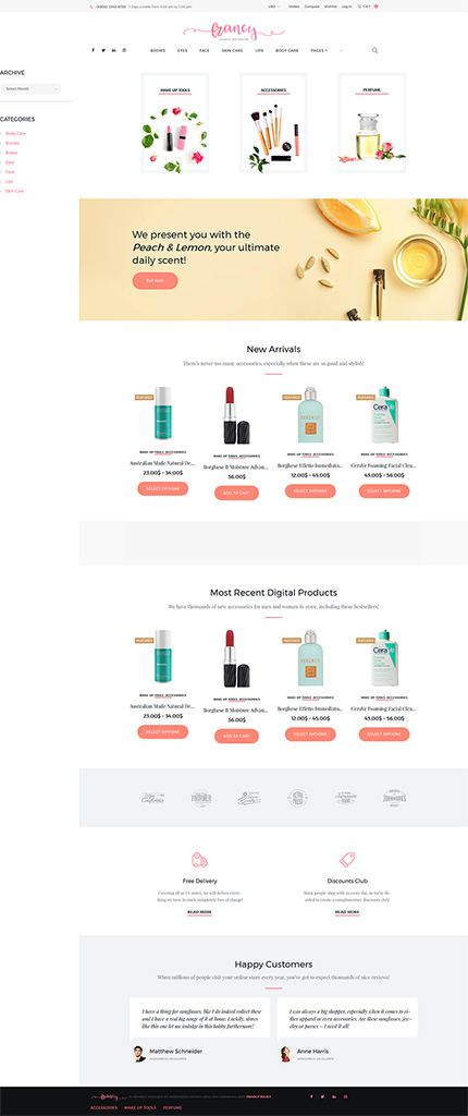 Cosmetics & Perfumes Online Store #WooCommerce #template. #themes #business #responsive #WooCommercethemes