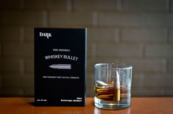 Whiskey Bullets made of stainless steel that chill your drink without diluting - SipDark