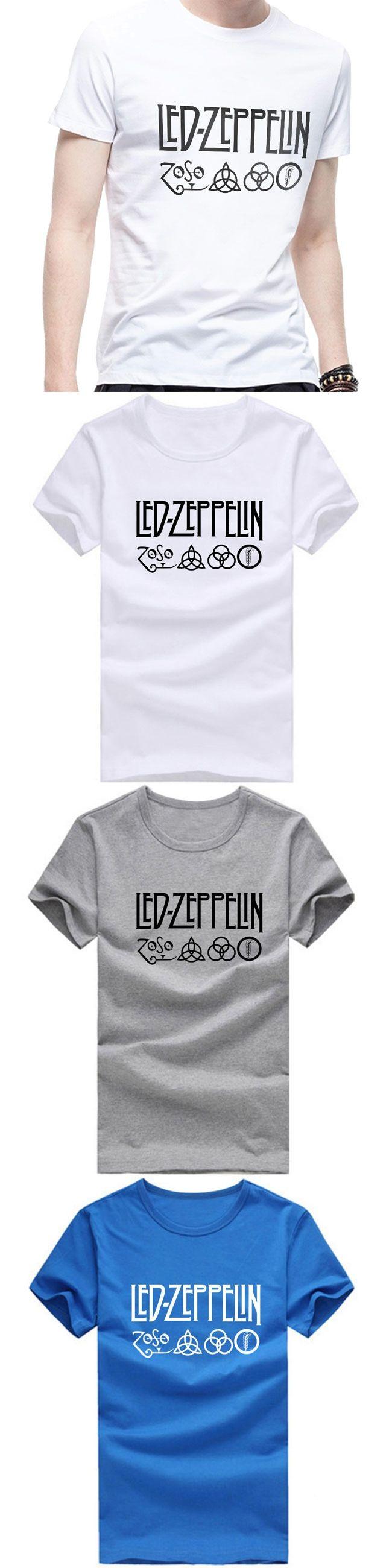 The 25 best led zeppelin t shirt ideas on pinterest slash band led zeppelin fashion men t shirts round neck short sleeve cotton hip hop man t biocorpaavc