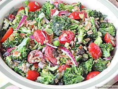 Learn how to make Paula Deen Broccoli Salad, Trisha Yearwood Broccoli Salad, a grilled Broccoli Salad featured in LA Times, and even an Indian and Vegan alternative to traditional Broccoli Salad!