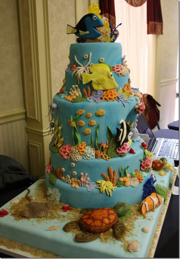 finding nemo dori cake   Amazing!    Took first prize in cake competition by Custom Cakes by Jen