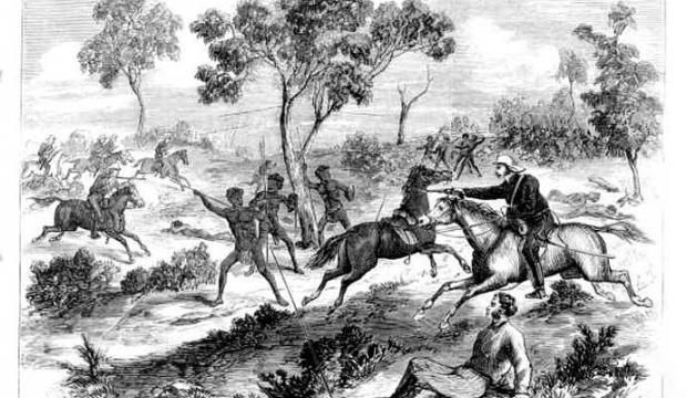 aboriginal fight battle - forget the white people