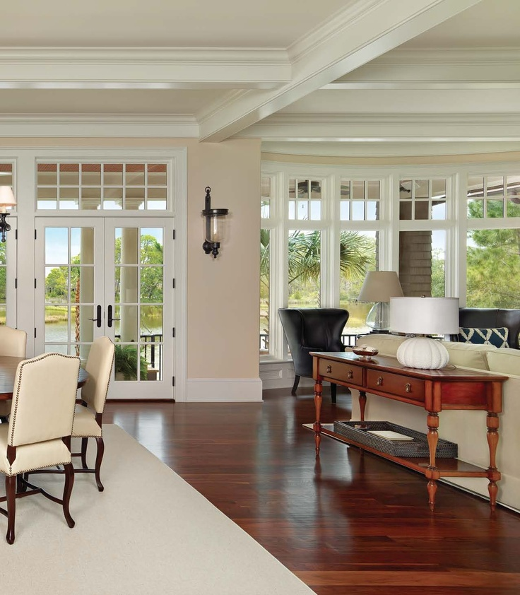 Styles Of Homes In Our Area: Living Area With View Of The Kiawah River--Kiawah Home