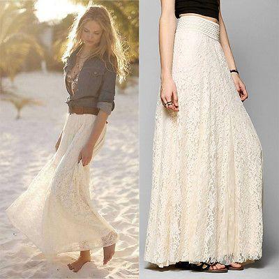 2016 Summer Womens Lace Skirt Women cover up women beachwear Beach Cover Up Bikini summer dress skirt crochet long dress
