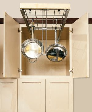Hanging Pot and Pan Organizer - contemporary - Cabinet And Drawer Organizers - Birmingham - Wellborn Cabinet, Inc.