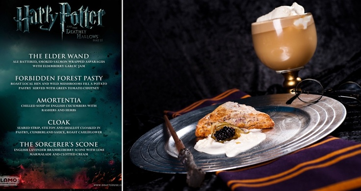 Harry Potter dinner and a movie menu