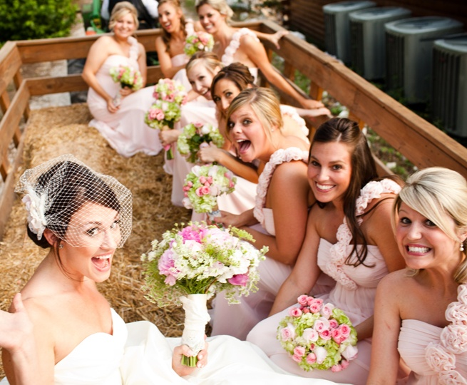 I REALLY want to do this EMMA So cute! Hay ride to the wedding ceremony  Compliments-RainingBlossoms Wedding from in Arkansas.com