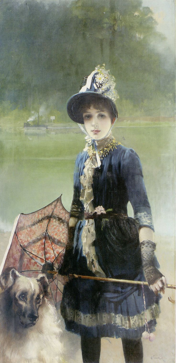 Vittorio Matteo Corcos, 1884, A Summer Stroll