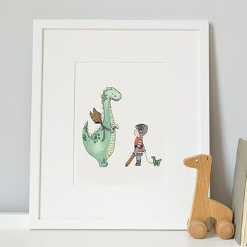 The Dinosaur Who Wanted To Be A Dragon Print
