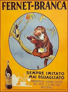 Fernet Branca monkey