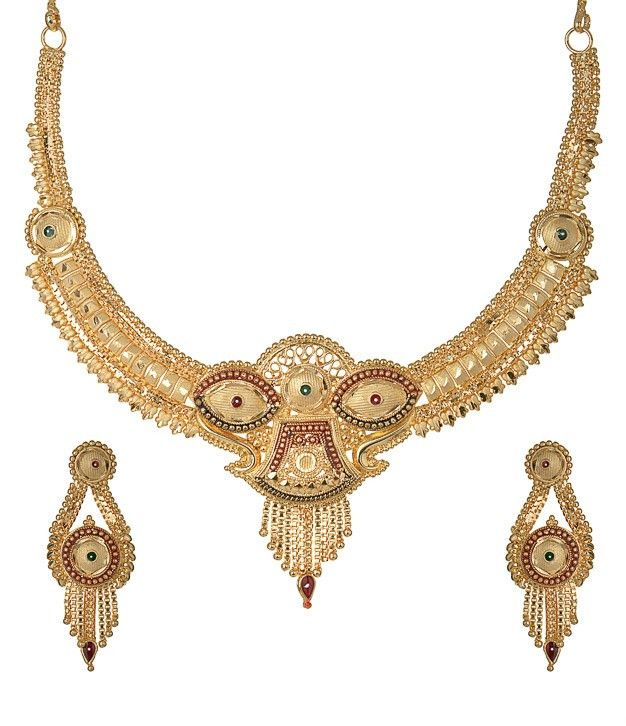 Designer Gold Plated shine look best jewellery online
