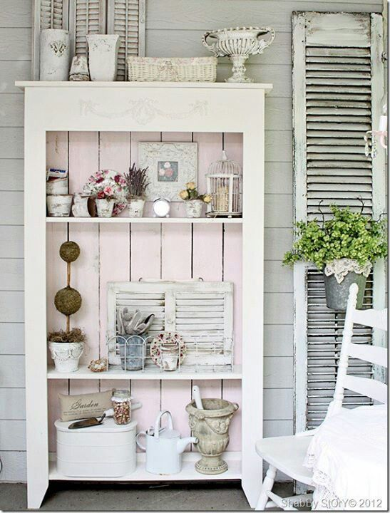 shabby shutters for veranda deko home sweet home pinterest gardens shabby chic and. Black Bedroom Furniture Sets. Home Design Ideas
