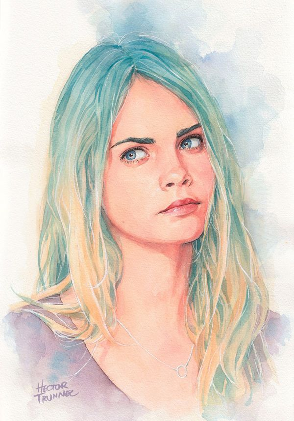 54 best tutorials painting portraits in watercolours images on