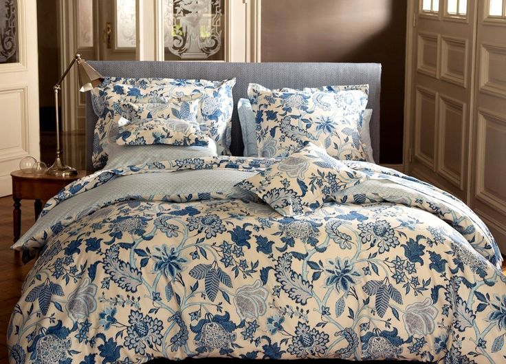 housse de couette 260x240cm amita bleu par canovas la. Black Bedroom Furniture Sets. Home Design Ideas