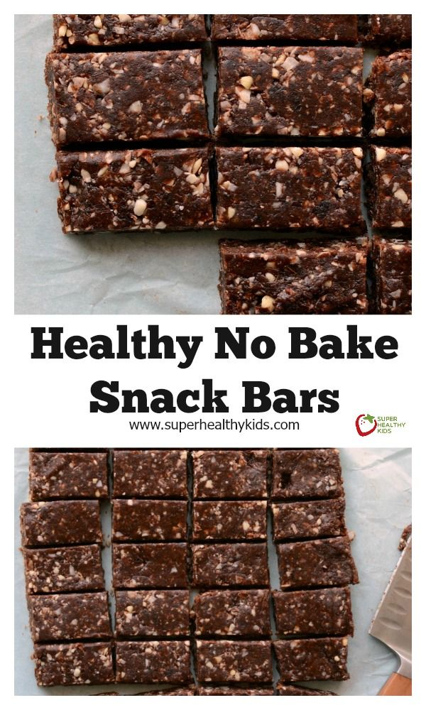 Healthy No Bake Snack Bar Recipe. Make these for your snack today (and then eat them for breakfast tomorrow too!) http://www.superhealthykids.com/healthy-no-bake-snack-bars/