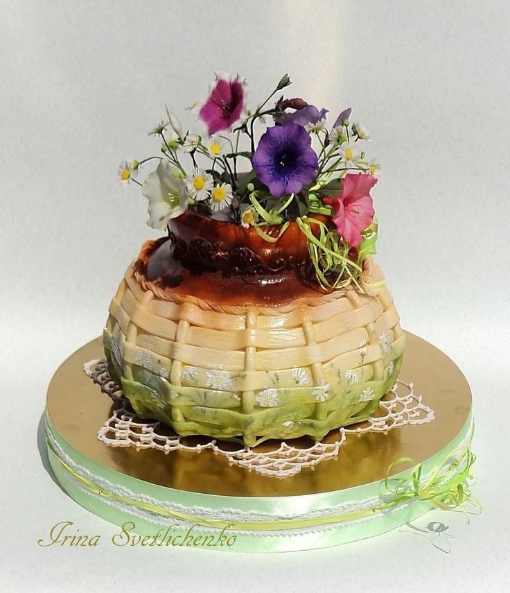 3D Cakes Торт горшок с цветами