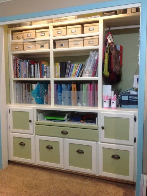 106 Best Craft Storage   Crafting Closets Images On Pinterest | Storage  Ideas, Closet Office And Crafts