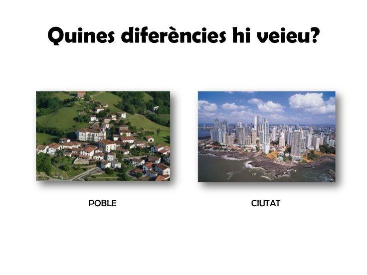 Imatge diferències entre pobles i ciutats