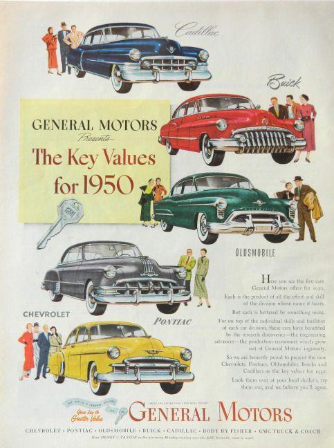 1950 General Motors many models car advertising by DustyDiggerLise