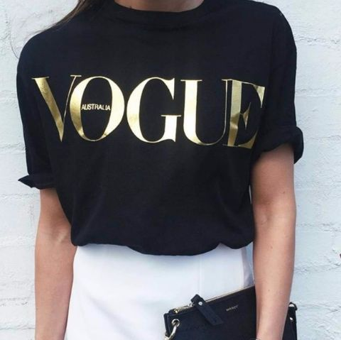Letter VOGUE Printed Colored T-shirt – Ecolo.luca