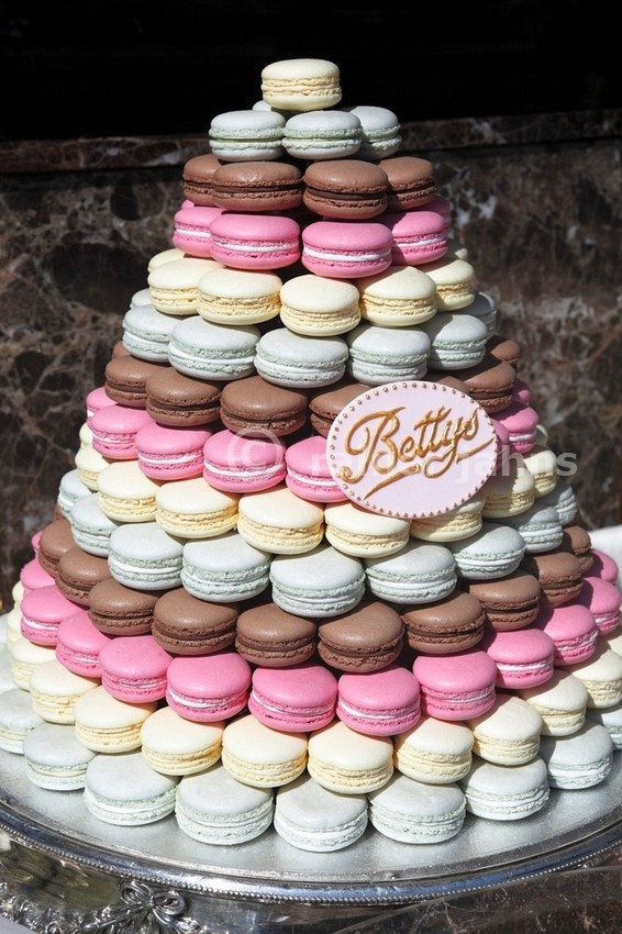 Birthday Cake Macarons Tower