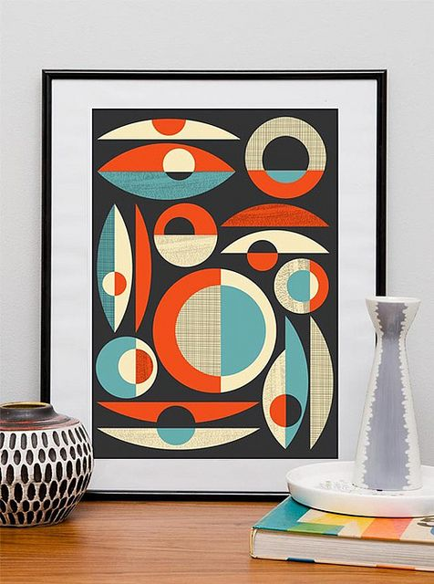 scandinavian style posters. Collection of shapes: Mid Century Modern, Wall Decor, Modern Art, Art Deco Wedding, Posters Prints, Mid Century Decor, Abstract Art, Art Posters, Retro Vintage