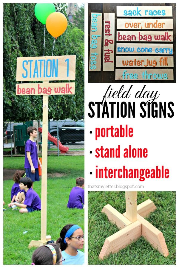 diy field day station signs with free plans