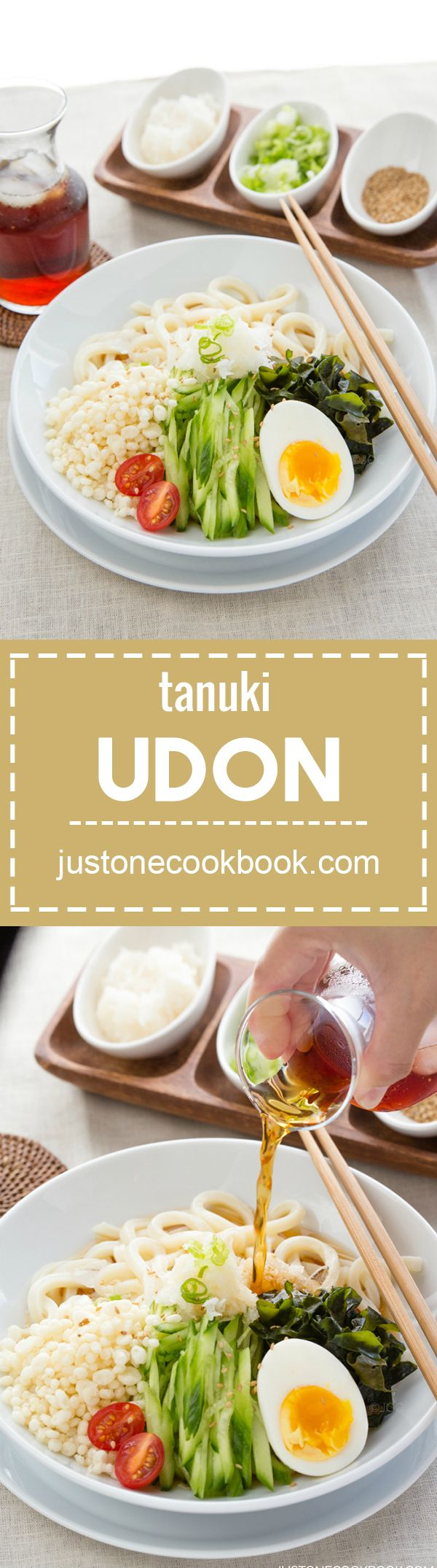 Cold Tanuki Udon (冷やしたぬきうどん)  | Easy Japanese Recipes at JustOneCookbook.com