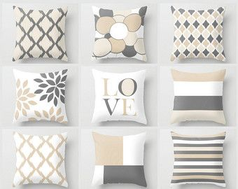Neutral Throw Pillow Covers Fall Home Decor by HLBhomedesigns