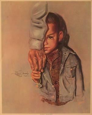 Helping Hand print by J.H. Richards